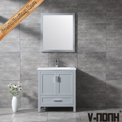 V-Nonh mais nova casa de banho de design sólidos de madeira armário de casa de banho de cortesia