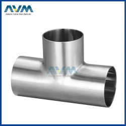 304/316L 3A/SMS/DIN/ISO中国の衛生ステンレス鋼のティー連合肘弁の管の管付属品