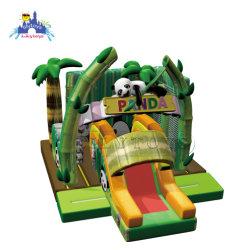 O Castelo de Panda Animal Salto insufláveis House com deslize de bicicleta para comprar a atração de abertura