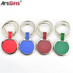 Unità di elaborazione su ordinazione superiore Keychain di cuoio del metallo dei braccialetti di marchio dell'automobile