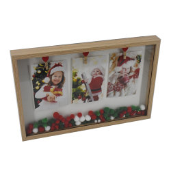 도매 OEM 재미있은 액자 크리스마스 산타클로스 콜라주 클립 Pampon 사진 프레임