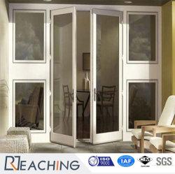 Commerce de gros de conques 60 Casement PVC/UPVC Porte en plastique de pivotement de la porte avec renfort en acier