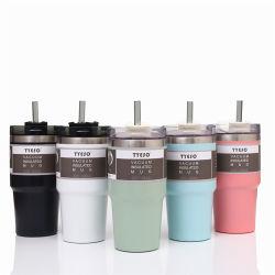 도매 판매 스테인리스 스틸 진공 자동 머그컵 450ml, 맞춤형 뚜껑이 있는 여행용 커피 머그컵