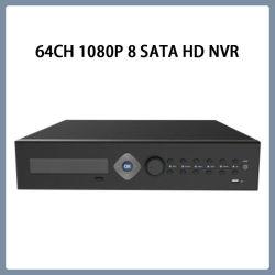 Наблюдения 64CH 1080P 8HDD безопасности H. 265 HD CCTV NVR