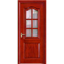 固体Wood/MDF部屋のドアの構築の緩和されたガラスの内部ドア(YH-6021)