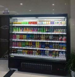 Supermarkt-geöffneter Bildschirmanzeige-Kühler mit LED, die justierbares Regal beleuchtet