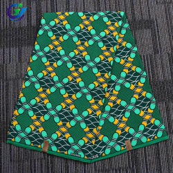 En 2018 de haute qualité Vente chaude 6 verges de tissu imprimé de l'Afrique cire réel pour la tenue vestimentaire