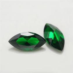 후작은 2X4mm 반지를 위한 입방 지르코니아 원석 녹색 합성 다이아몬드를 잘랐다