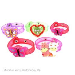 Licht-Glühen-Weihnachtsklaps-Kreis-Armband-elastisches Handgelenk-Band des Weihnachtsspielzeug-Geschenk-LED