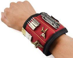 Boîte à outils de la courroie de poignet Aimant magnétique Outil Main de la dragonne Wrap