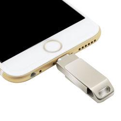 Feder-Laufwerk DES OTG USB-Blitz-Laufwerk-Metall-USB-grelles Stock-8GB 16g 32g 64G für iPhone X 8 7 6 Plus6s 5s 5c iPad Luft Mini-PRO
