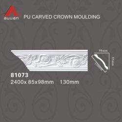 Décoration 81073 polyuréthane souple des corniches de moulage plastique pour le commerce de gros