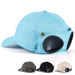 Fabrik-Großhandelsflieger-Glas-Schutzkappen-Sommer-koreanische Baseballmütze-weibliche im Freienlichtschutzsun-Masken-Schutzkappe für Männer