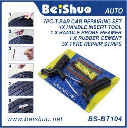 insieme del kit di riparazione del pneumatico della gomma della rotella di automobile 7PC-T-Bar