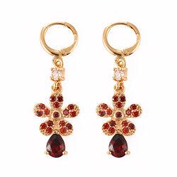 925 Sterling Silver/Brass & CZ Earrings Bijoux Bijoux de mode