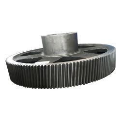 OEM de forjamento de fundição de peças de máquinas de Mineração de grande diâmetro grande divisão da peça fundida da roda da Engrenagem Cilíndrica