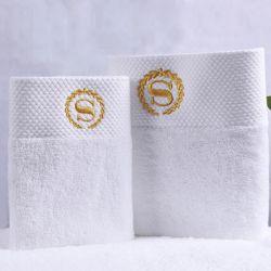 prix d'usine Serviette Serviette de bain avec broderie logo 100%Hôtel de luxe en coton