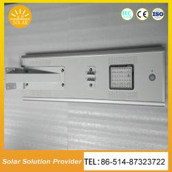 12W en una sola calle la luz solar con el interior de controlador y la batería de litio hierro