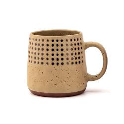 Retro 세라믹 찻잔 찻잔 조악한 도기 손으로 그리는 개성 창조적인 찻잔 에티오피아 커피 잔 고정되는 우유 컵