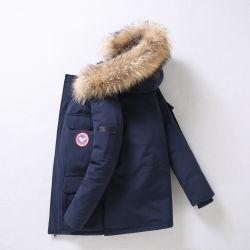 Groothandel Winter Mens Dames Zwart/Camouflage/Rood/Wit/Roze Windbreaker Duck Puffer Goose Down Jas met Fur Hood