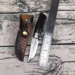 ダマスカス鋼鉄ナイフの猟刀の屋外のキャンプの存続のナイフ