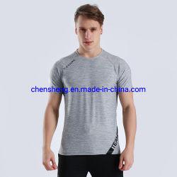 Мода сплошным цветом Быстрый сухой дешевые оптовые T рубашки мужская Tshirt спорта обычная T износ рубашки для спортзал фитнес