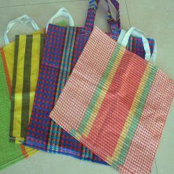 Sac shopping PP tissés avec poignée en 4 couleurs au Pérou en tissu de la Russie