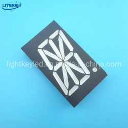 شاشة LED أحادية الرقم ذات 16 مقطعًا مقاس 2.3 بوصة ثابتة الدائرة الكهربائية باستخدام RoHS من جهة تصنيع الخبراء