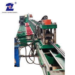 Ladrilho totalmente automático de elevação oco em forma de T de metal escadas rolantes estirados a frio do Trilho Guia do Elevador/Rolo de desenho//rolete de giro tornando/formando Plaina Máquina CNC
