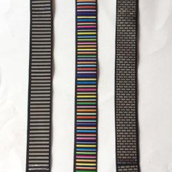 Reflektierendes elastisches Farbband-Material-Band-Band mit Laser bessert heiße Verlegenheits-Wärmeübertragung 4cm aus