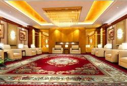Tapis rouge personnalisé Pattern 80/20 Axminster tapis en laine pour l'hôtel, maison, Commercial utilisé, bureau, banquet