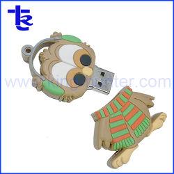 製造業者の昇進のギフトのカスタムゴムPVC USBのフラッシュドライバー