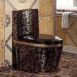 Loiça sanitária wc casa de banho de luxo europeu personalidade Siamês Sifão wc de cor preta