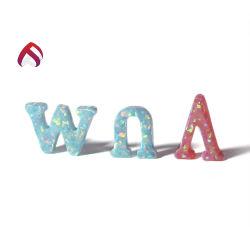 Precio al por mayor fuego letra verde sintético forma Opal gemas con mejor precio