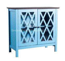食器棚、台所サイドボード、2つのドアおよび緩和されたガラス