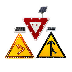 Zonne-energie met AC-voeding voor buiten LED Electric Traffic Road Safety Waarschuwingsborden borden borden borden