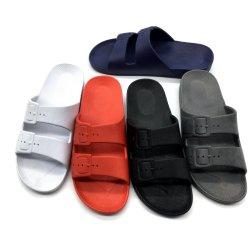 La nueva banda de PVC de terraza de verano sandalias de los hombres chicos varones sandalias con Double-Buckle