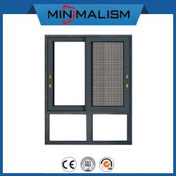 Вентиляция домашних хозяйств алюминиевый раздвижной металлической окна цены с противомоскитные сетки