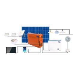 Grade de largo uso de exploração da energia solar o uso do Sistema de Iluminação Doméstica 1kwh Conjunto Completo do Sistema Solar