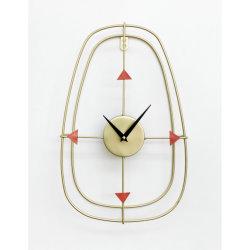 Oval de metal relógio de parede 25x7x40.5cm decorativos de relógios de parede, relógio de parede na sala de estar