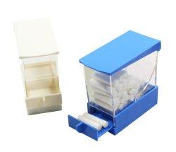 Caixa de swab dental com botão da gaveta do rolo de algodão