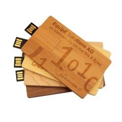 Bois de carte USB Memory Stick lecteur Flash USB disque U Pendrive 64Go et 32 Go 16 Go 8 GO 4 GO de cadeau de mariage en bois de Logo personnaliser