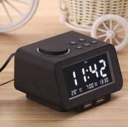 2020 LCD 디스플레이 UK USB 스누즈 디지털 라디오 알람 시계