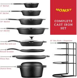 Factory Hot Selling Amazon cucina casalinga cucina cucina personalizzata griglia Griddle Pizza Pan forno olandese Prerested non Stick cottura cottura pentole Set