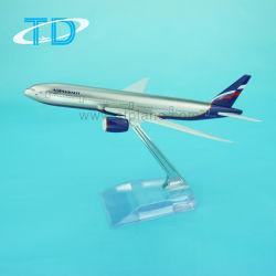18.5cmミニチュアモデルAeroflotのB777-300によってダイカストで形造られる模型飛行機