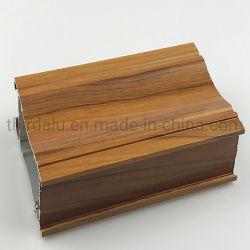 Anodizados/Revestimento a pó/Ganho de madeira extrusões de alumínio perfil com a porta e janela