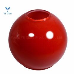 Décor rouge chinois Lampe en verre soufflé Pendentif teintes colorées à billes