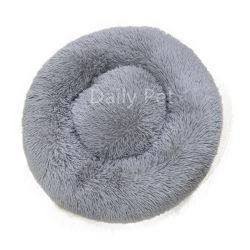 Donut Luxry Plush Faux Fur Cama Pet com deslizamento não inferior à prova de água