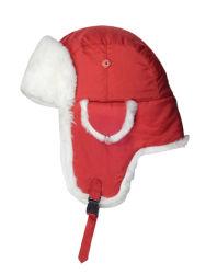 100 % polyester bordée de fourrure nouée décoration chapeau d'hiver