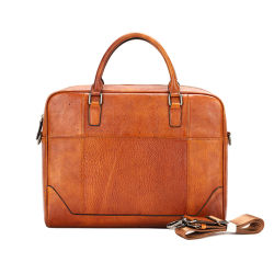 Fabrik Preis Handtasche Vintage Braun Leder Brieftasche für Männer